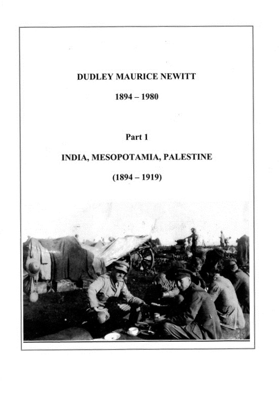 Dudley Maurice Newitt Biography Part 1 -cover picture