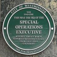 Special Operations Executive plaque